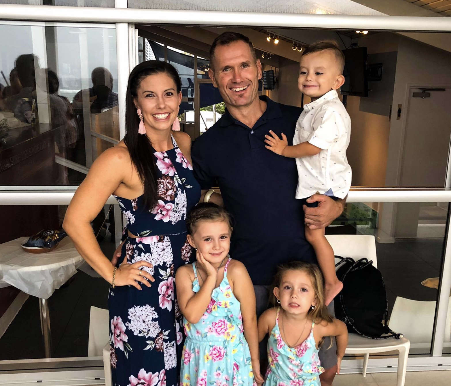 Hannah Baxter with her husband Rowan and their three young children. Source: Facebook