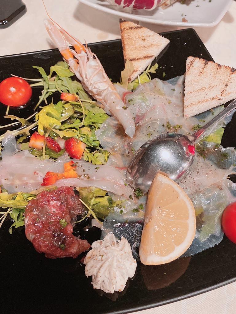 ▲這趟義大利行,陳瑀希和媽媽吃遍各種美食。