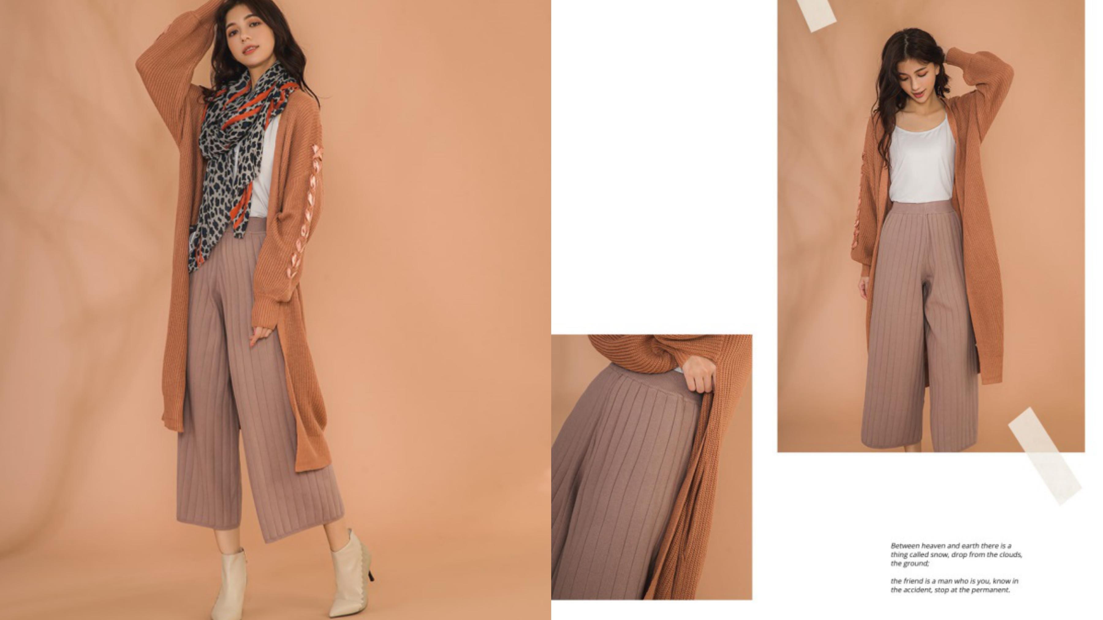 長度恰到好處的褲長,細密紮實的厚磅優質面料,穿起來好有挺度