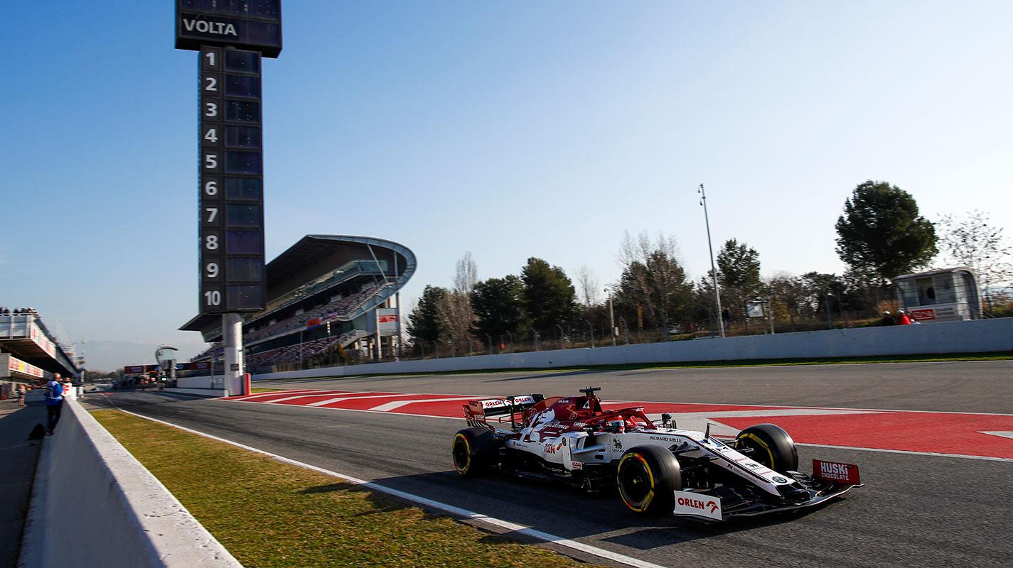 2020年第二次季前集測首日Kubica最快