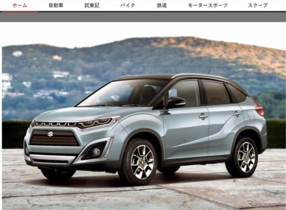 日媒釋出新一代 Suzuki Vitara 的可能樣貌。車頭讓人有 RAV4 的錯覺。