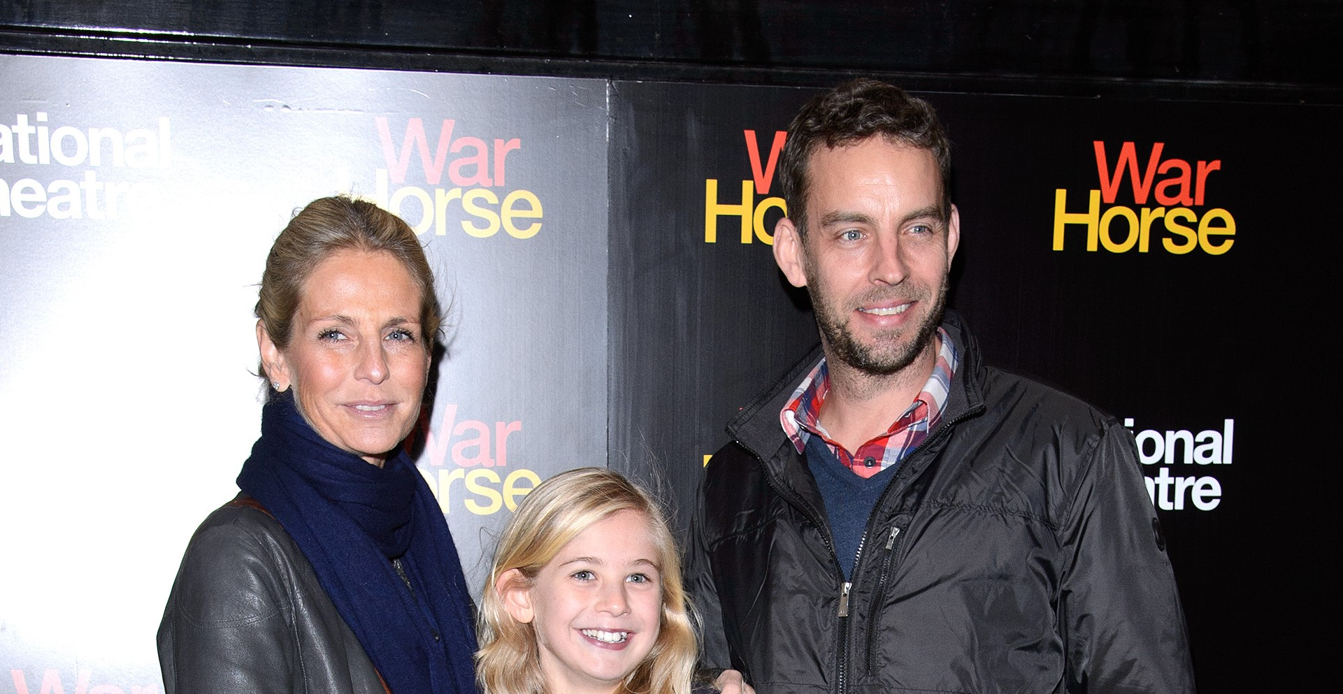 Ulrika Jonsson and husband Brian Monet with daughter in 2012 (Getty Images)