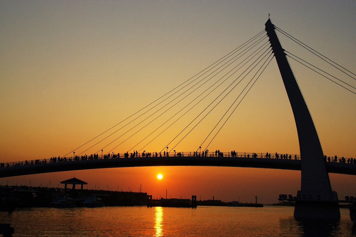 淡水夕照,美不勝收(圖片來源:新北市政府漁業及漁港事業管理處)