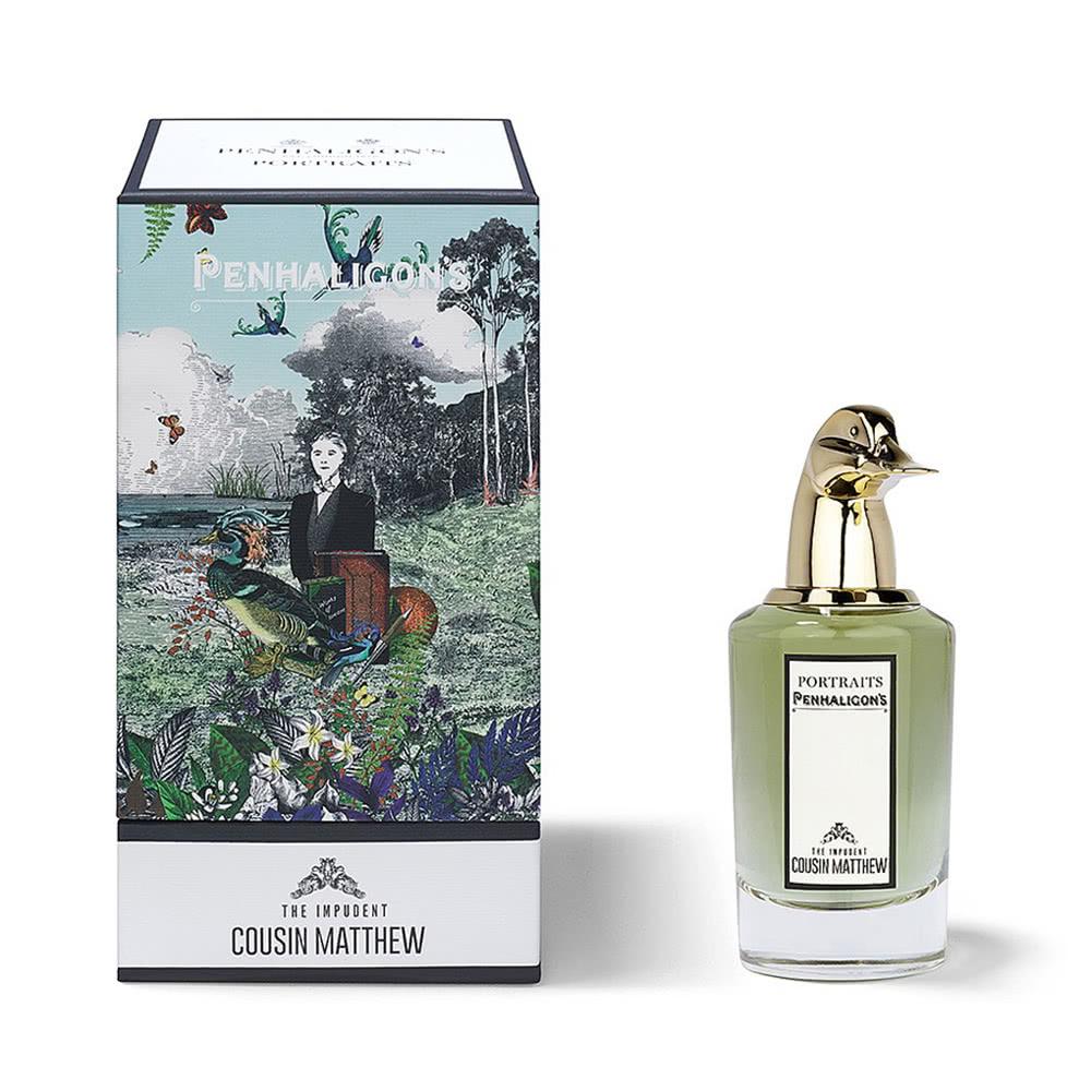 在《Penhaligon's》最著名的獸首肖像香水系列中最受女性香迷們寵愛的,便是這款有著可愛綠頭鴨設計的Matthew