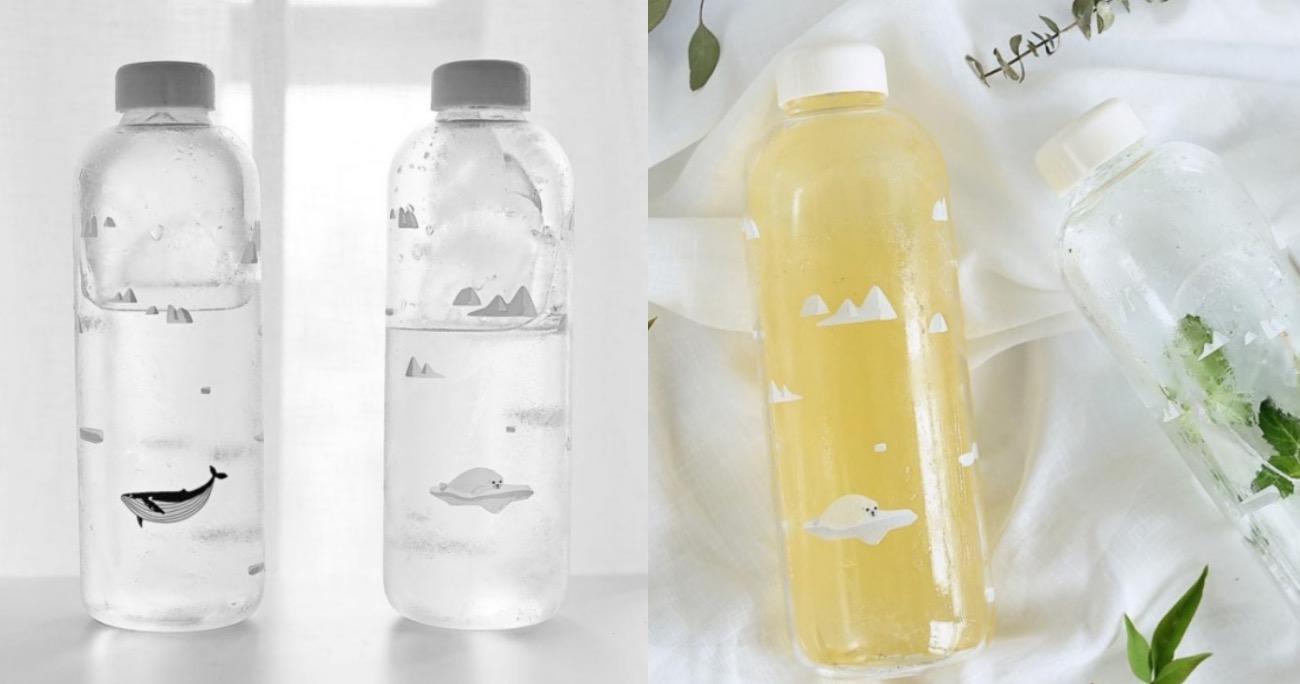 可愛的水瓶會讓你多注意他兩眼,看到水就拿起來喝幾口吧!