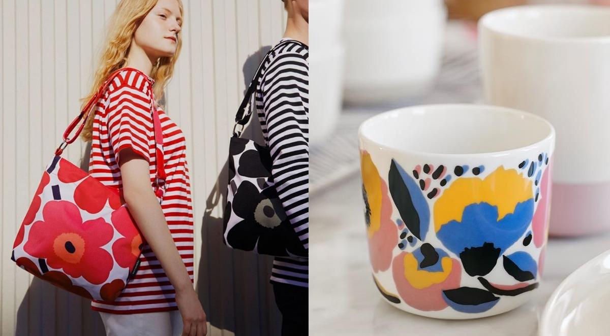 《Marimekko》以明亮多彩的色調、斑斕鮮明的印花圖騰著稱,繁雜之間卻仍保留了北歐獨有的簡潔利索感。