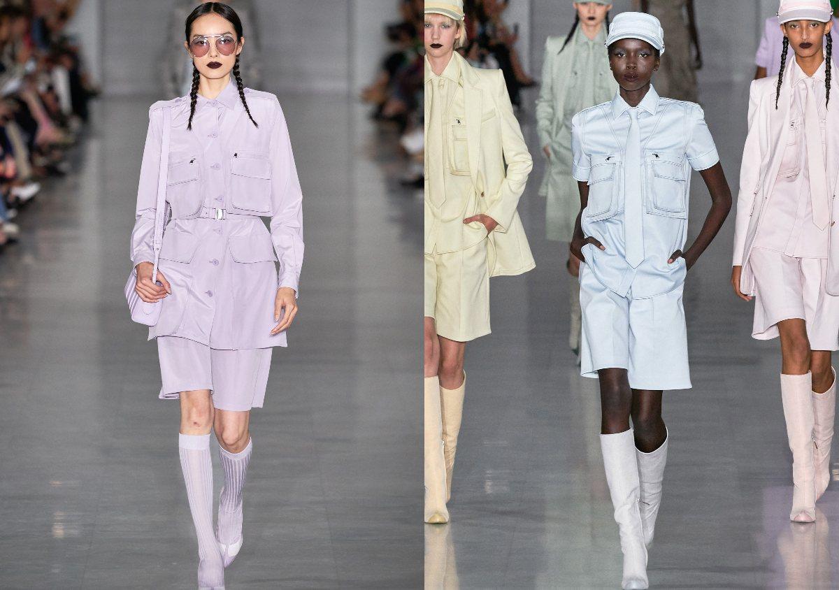 在2020春夏時裝週上,許多品牌都大膽加入馬卡龍色系,其中以《Max Mara》最讓人印象深刻。