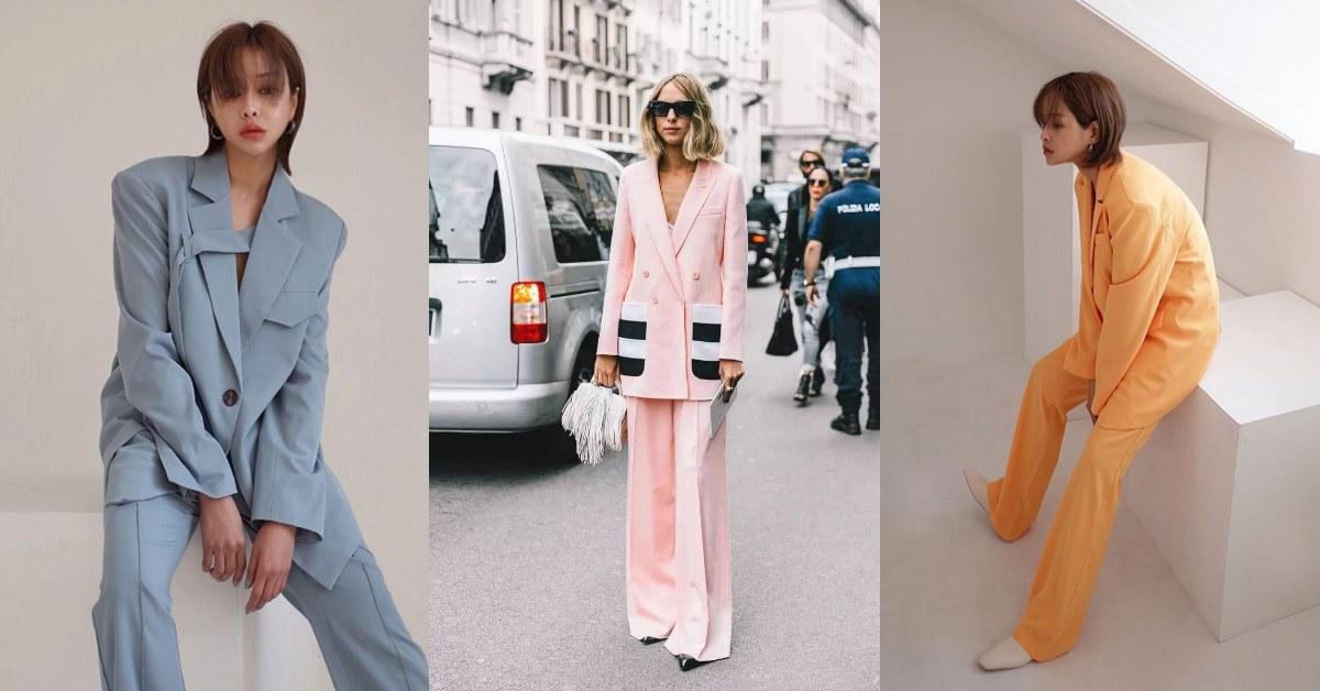 今年春夏就效仿《Max Mara》女子,給自己添購一身高彩度的套裝吧!