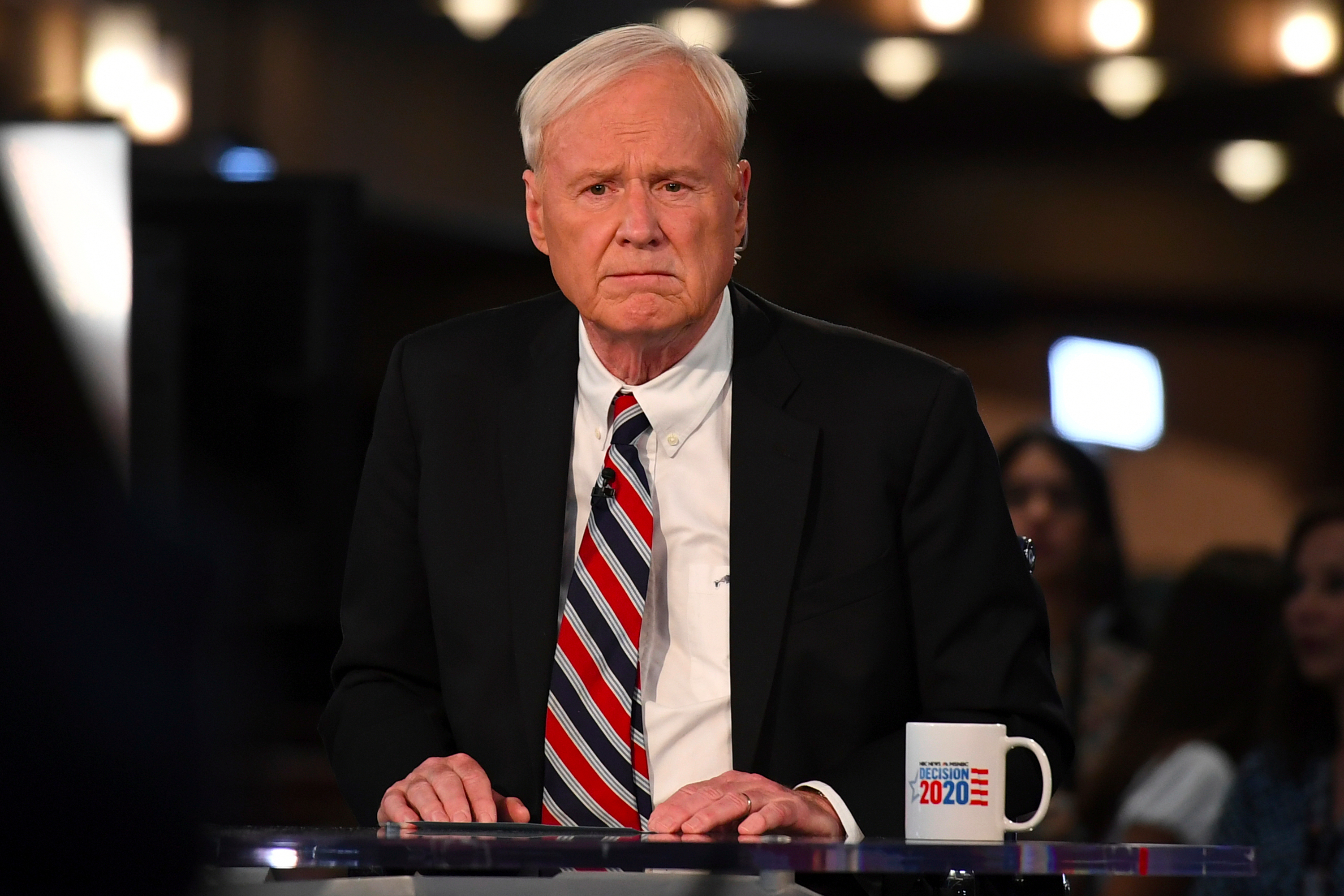 Chris Matthews is seen in the spin room during a 2020 Democratic primary debate in Miami in June. (MediaPunch/IPX)