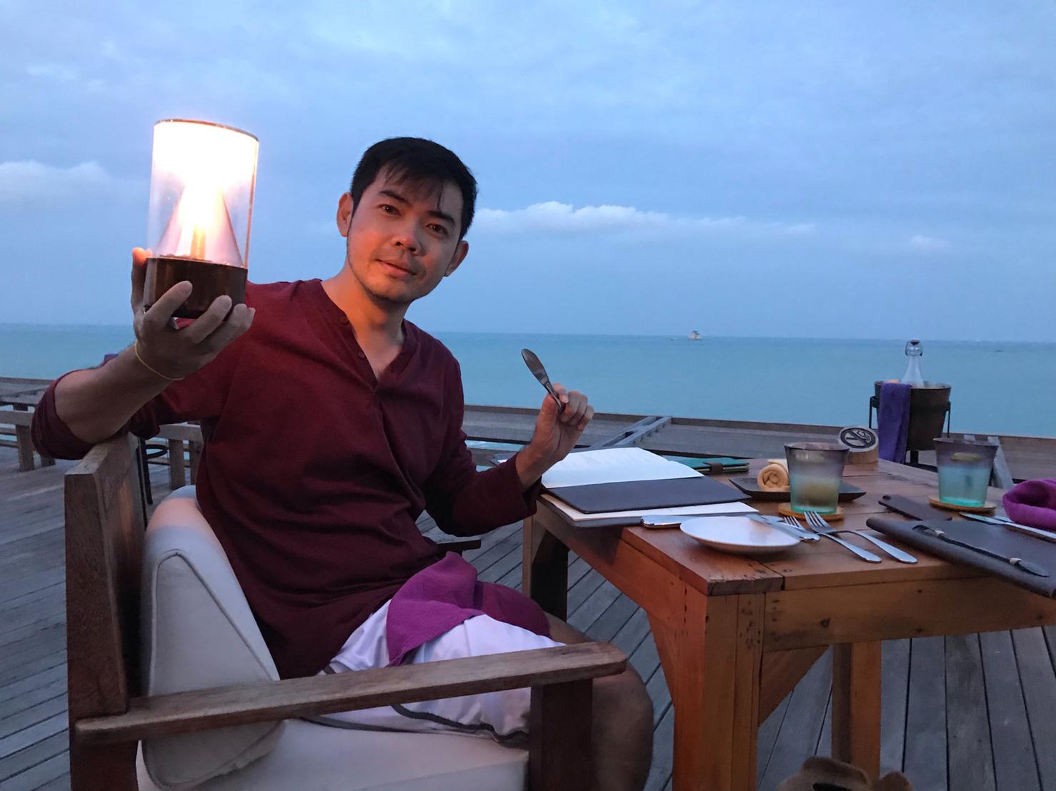 ▲余荃斌私底下非常喜歡去海島國家,這次選了沒有去過的蘇梅島。