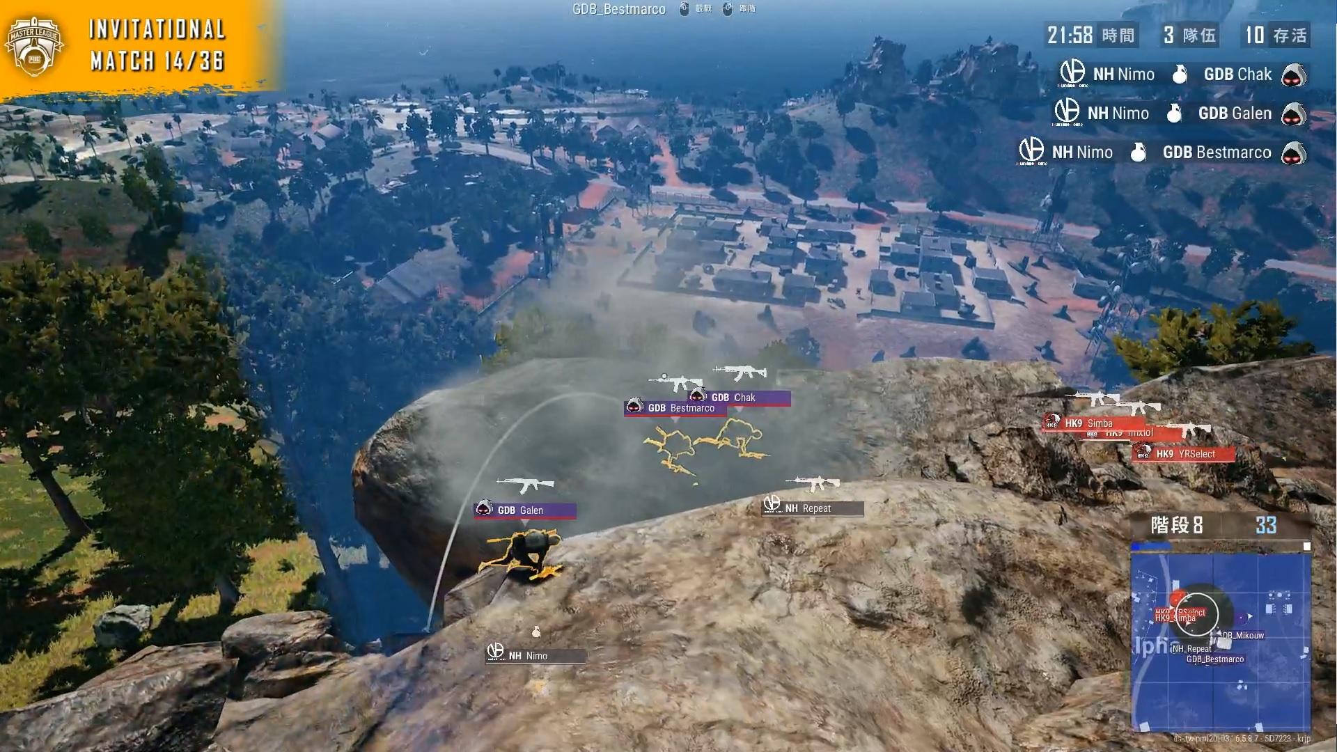 ▲NH_Nimo高射炮一炸三的精彩表現令主播賽評讚不絕口。