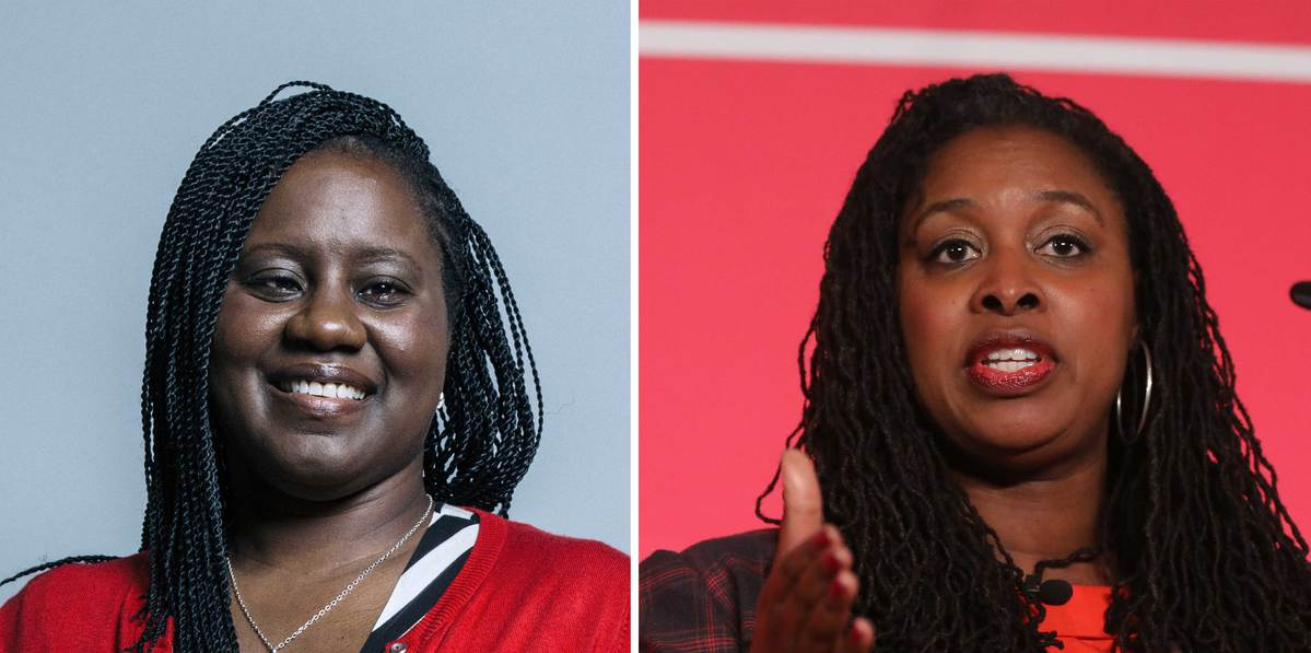 The BBC confused black MPs Marsha de Cordova, left, and Dawn Butler, right (Pictures: PA)