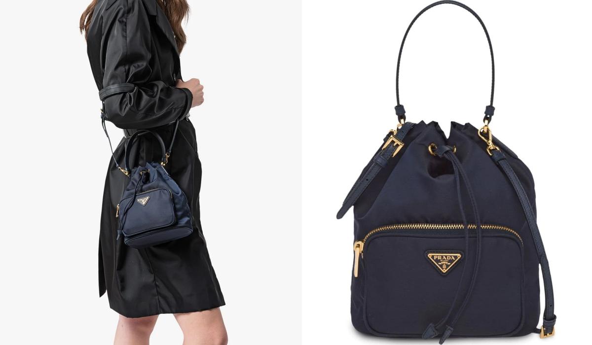 PRADA Fabric Shoulder Bag這款 #尼龍小水桶 更是攻陷大家的心,潤娥也曾經背過此包!