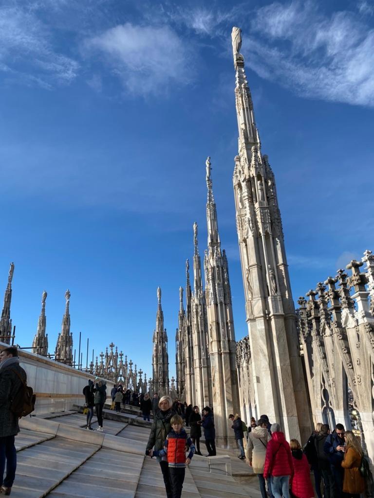 ▲米蘭大教堂的各種面貌,讓陳瑀希歎為觀止。