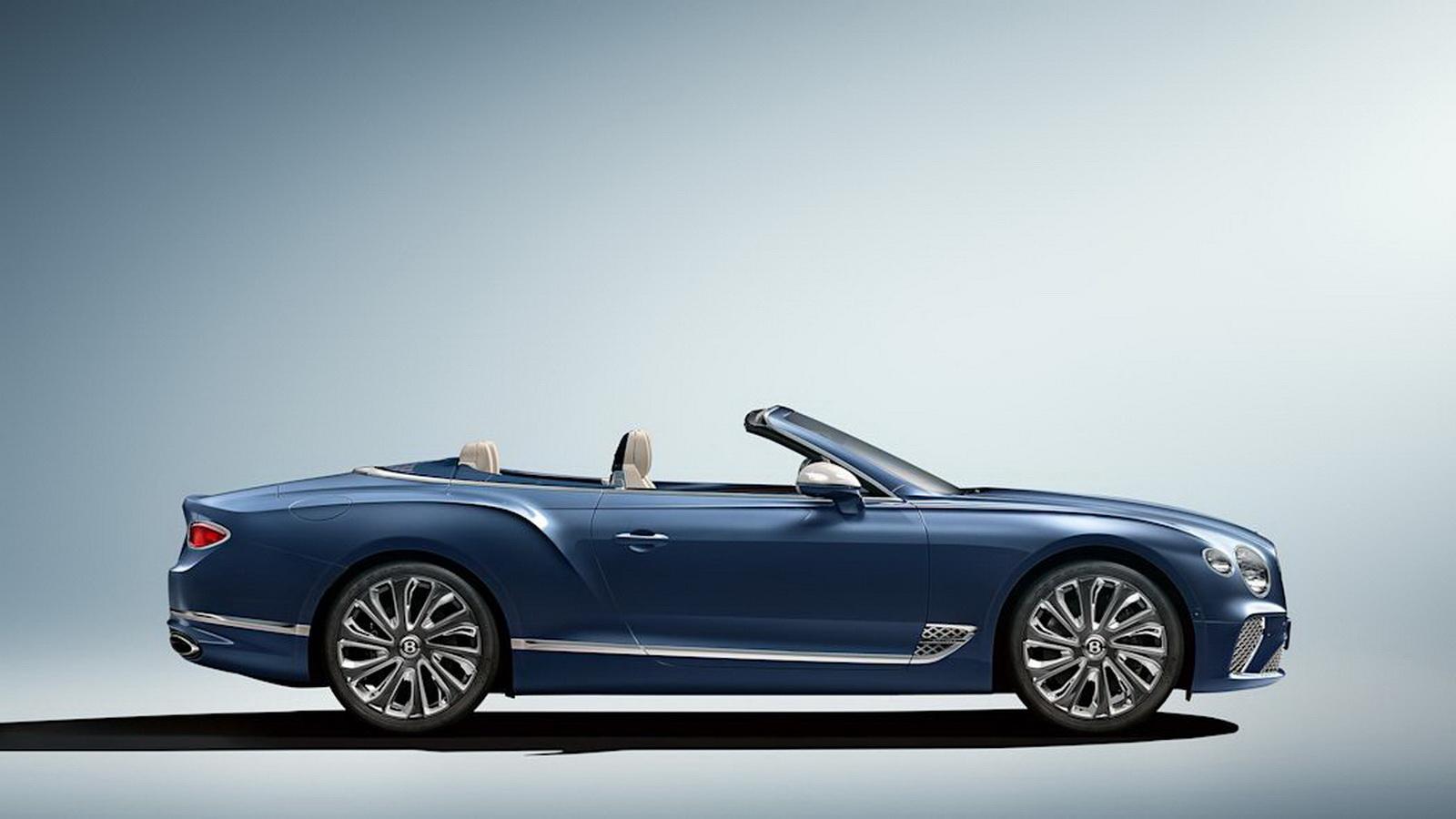 圖/為了配合車身流暢的肌肉線條,Mulliner還特別為Bentley Continental GT Mulliner Convertible配上22吋十輻式鋁圈。