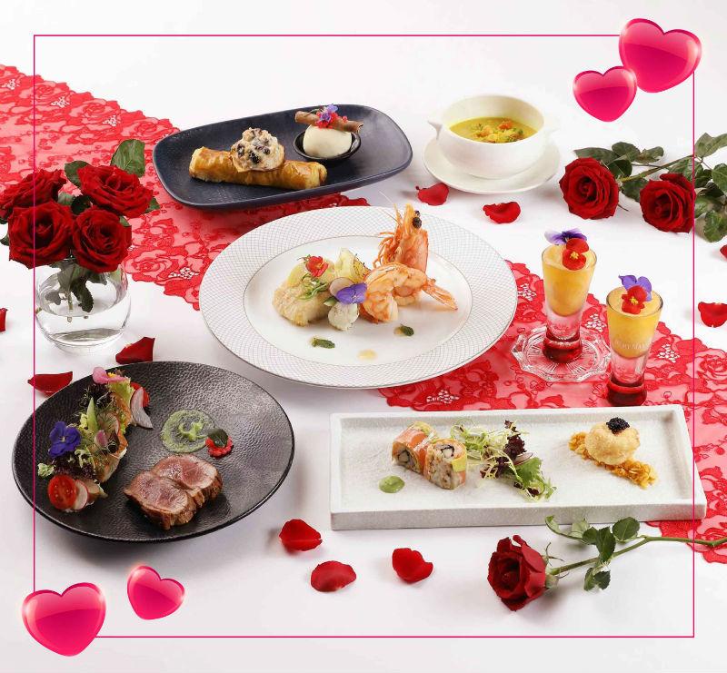 「愛在雲端」雙人晚間套餐,不僅照顧味蕾,擺盤也誠意十足。