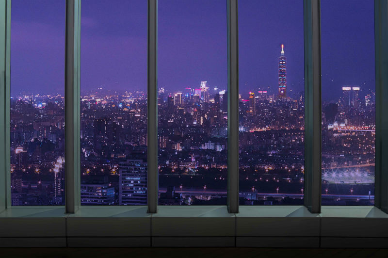 絕美高空夜景,還能遠眺台北101~