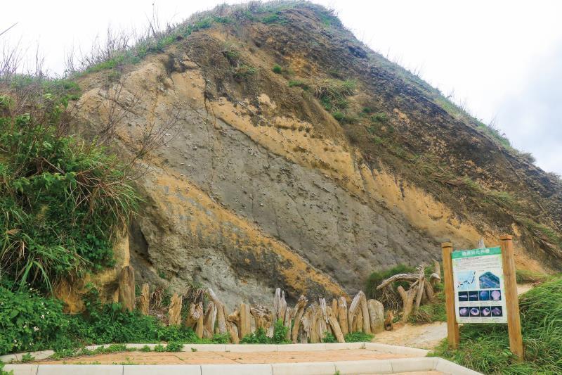 貝化石層蘊藏約一百萬至六百萬年前形成的貝類化石,是罕見的天然地景。圖/苗栗文化觀光旅遊網
