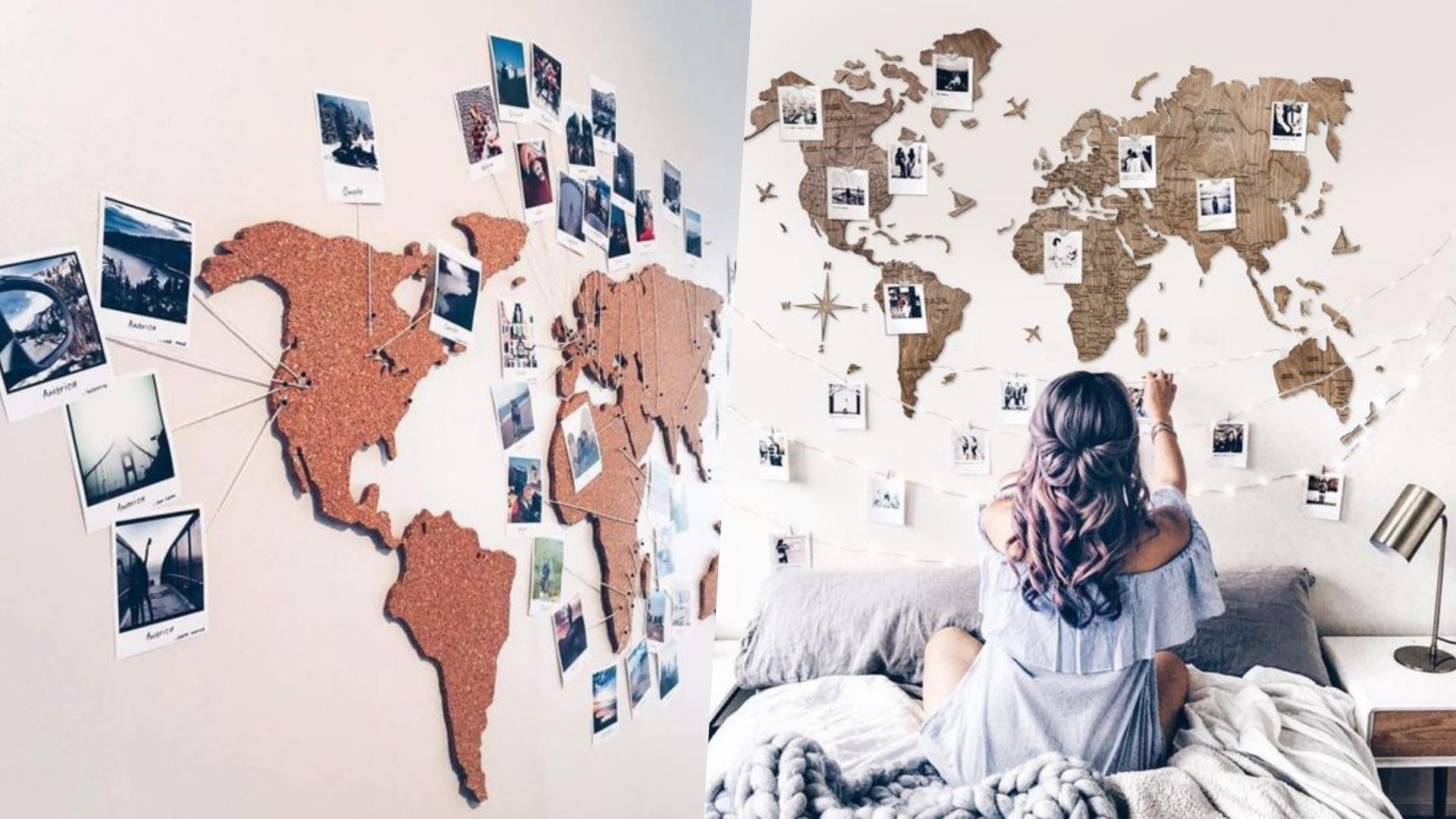 在地圖上貼上旅行的記憶,是旅途回來的最好禮物!