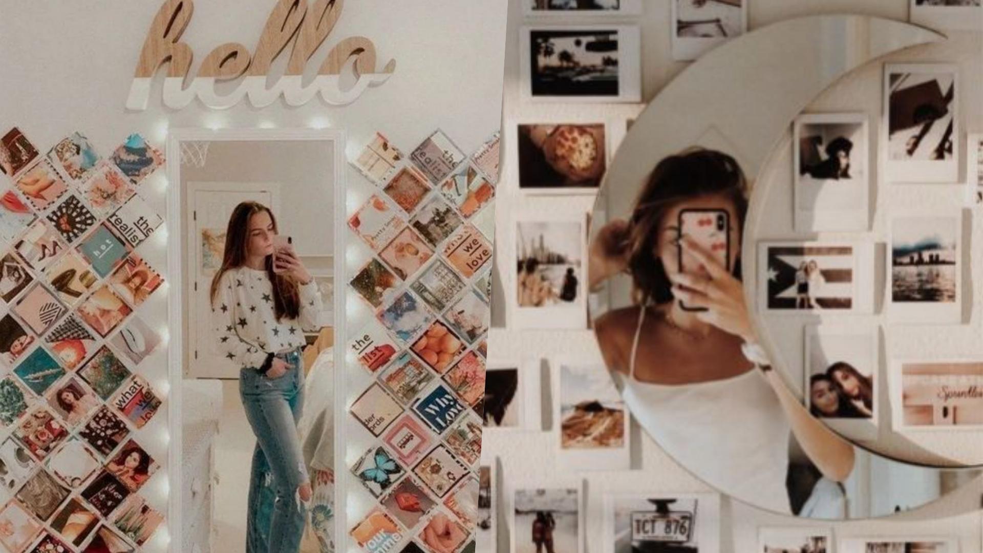 鏡子搭配照片牆,美到讓你捨不得出門了!