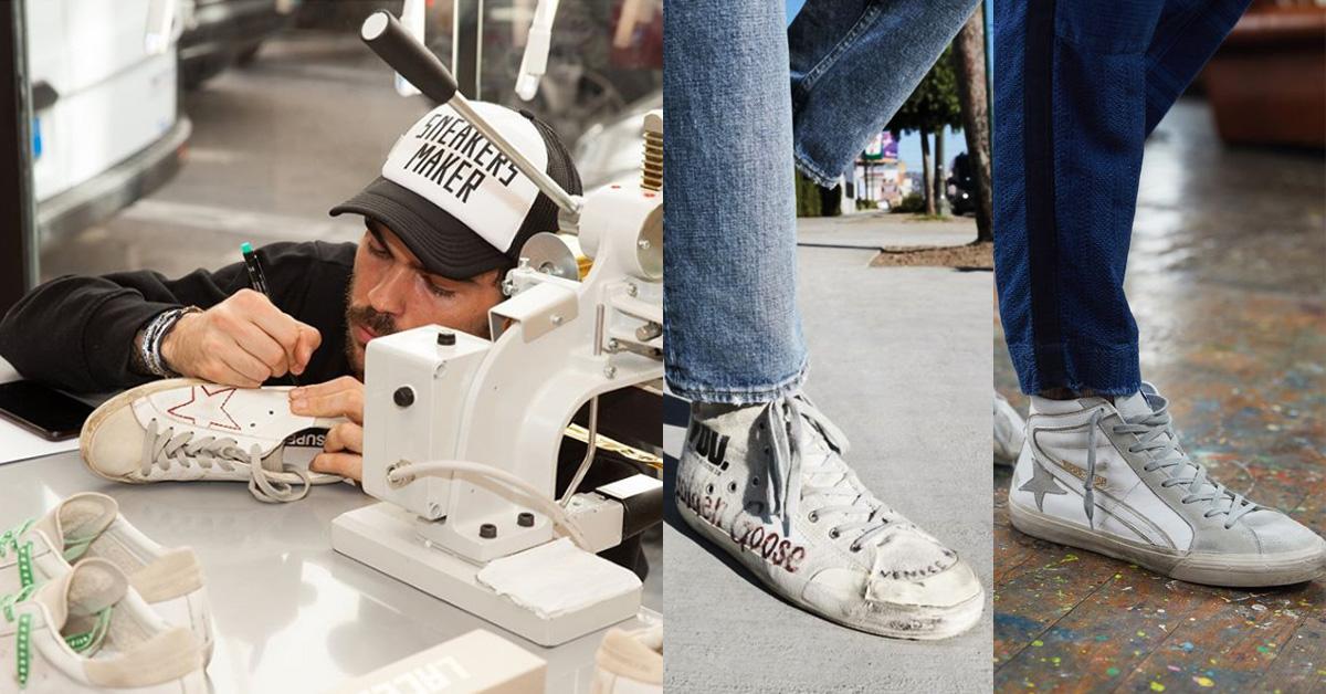 """除了每一雙 """"刻意"""" 純手工刷舊感,帆布鞋系列更是運用帶有粗糙感的再生帆布所製成"""