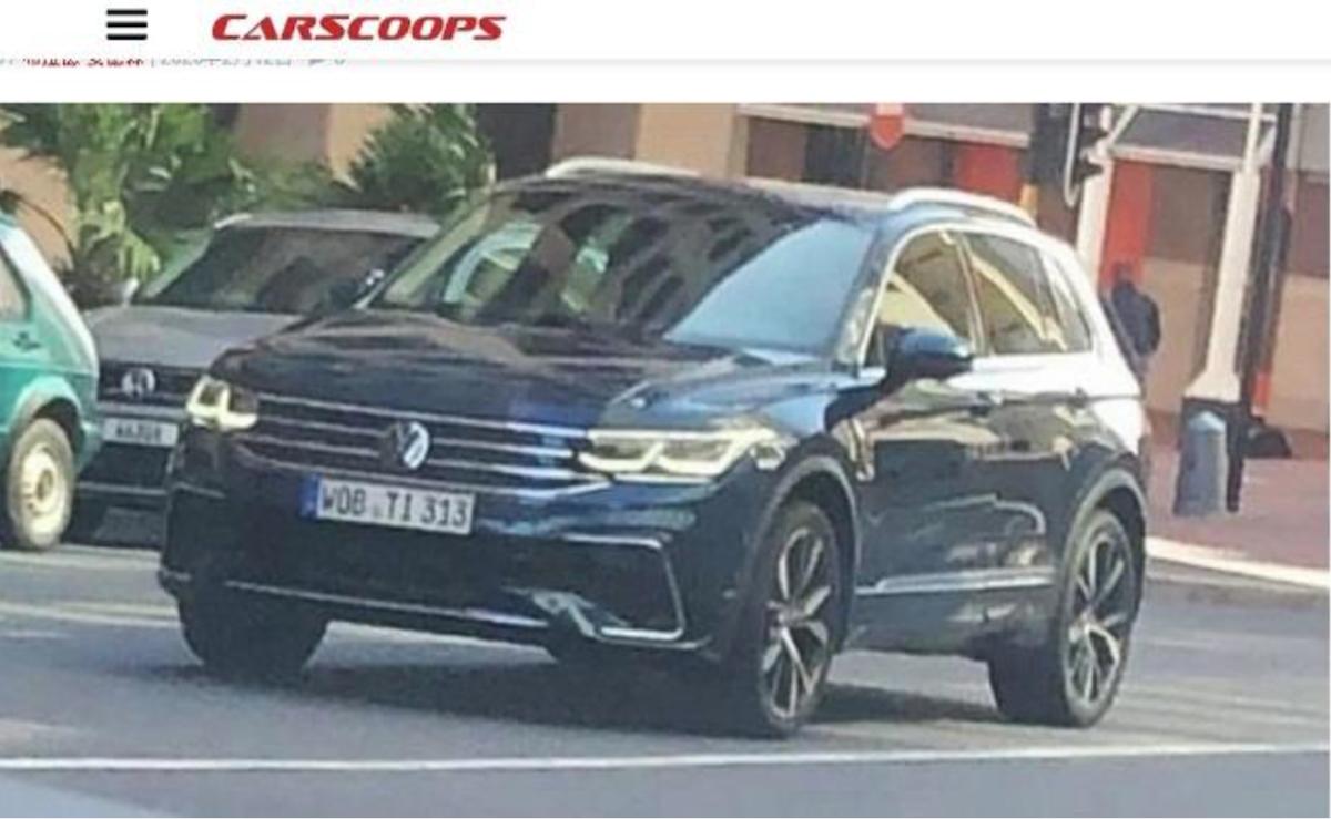 最新小改款 VW Tiguan 完整實車意外被捕獲。