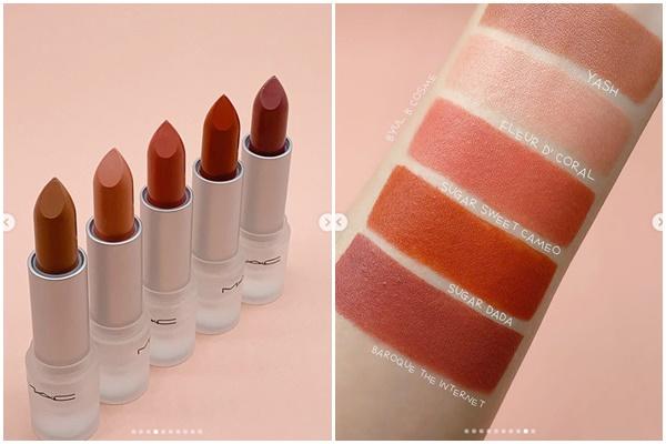 唇膏換上了透明包裝後變得好可愛,一共有5種MLBB色