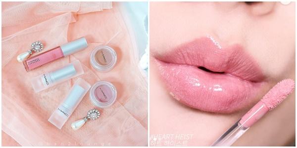 晶瑩剔透的唇釉能讓唇面呈現嘟潤的玻璃光澤