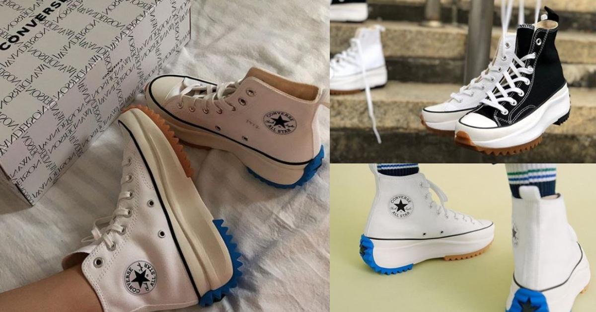 原有大底改成類似於「鬆糕」鞋底的加厚 EVA 中底設計,比起過去當紅的餅乾鞋更有個性