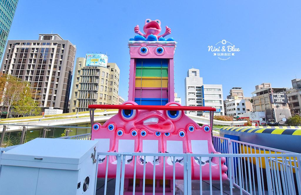 台中勤美草悟道|粉紅遊樂園