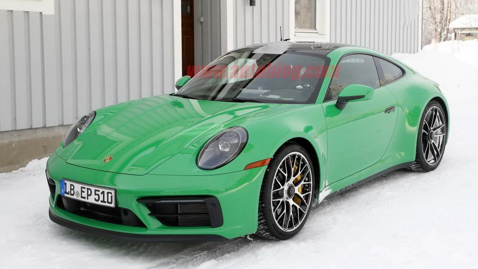 圖/Porsche 911 GTS無偽裝間諜照大公開,大膽鮮綠塗裝超搶眼。