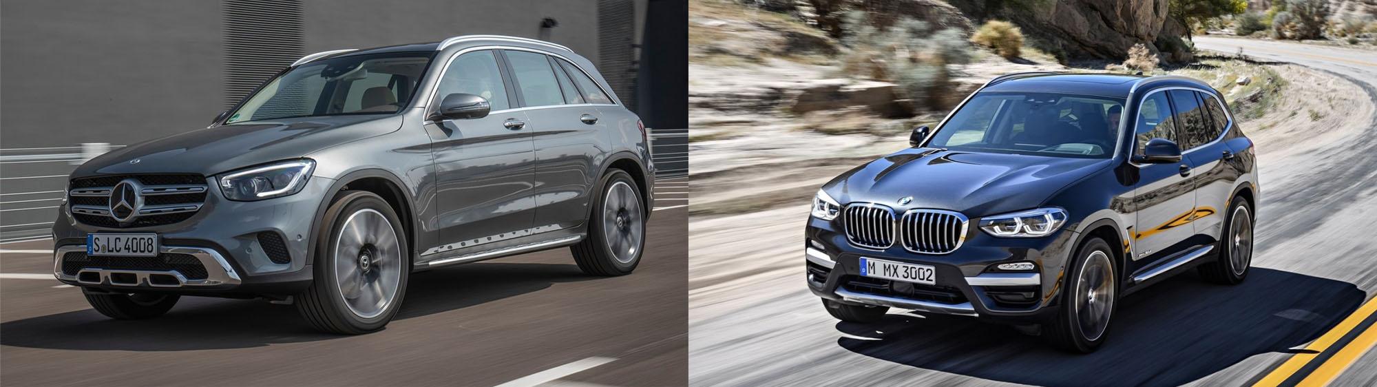 圖/2020 M-Benz GLC 200與2020 BMW X3 xDrive20i之德國血脈SUV比拼。