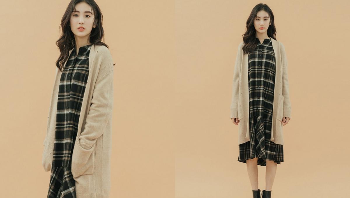 春、秋都能穿的實用輕薄針織外套,長版開襟增添慵懶個性