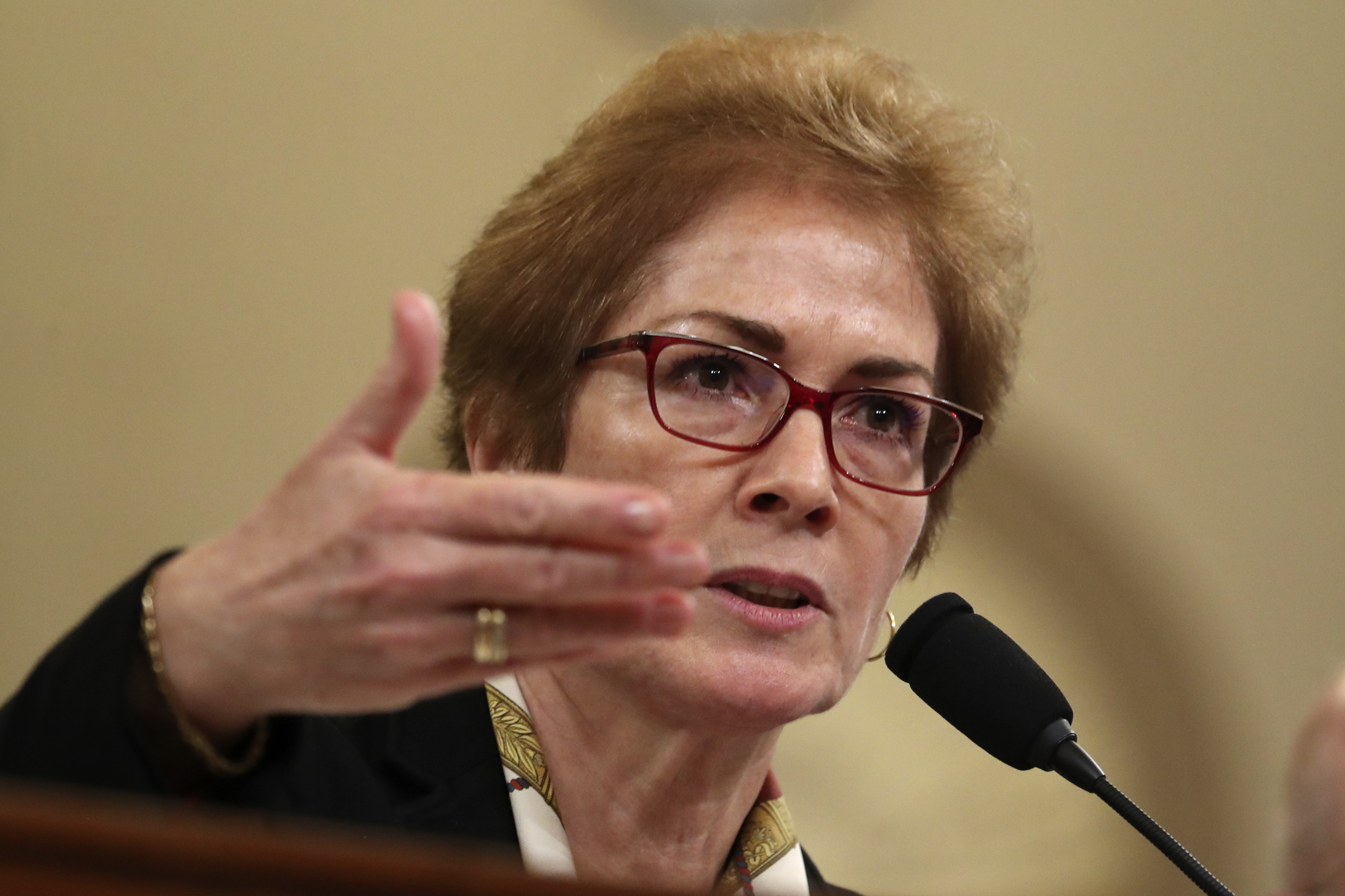 Former U.S. Ambassador to Ukraine Marie Yovanovitch. (AP Photo/Andrew Harnik)