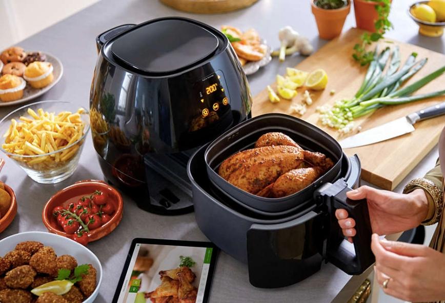 氣炸鍋整個烹煮過程毫無令人不適的異味,簡單又方便!
