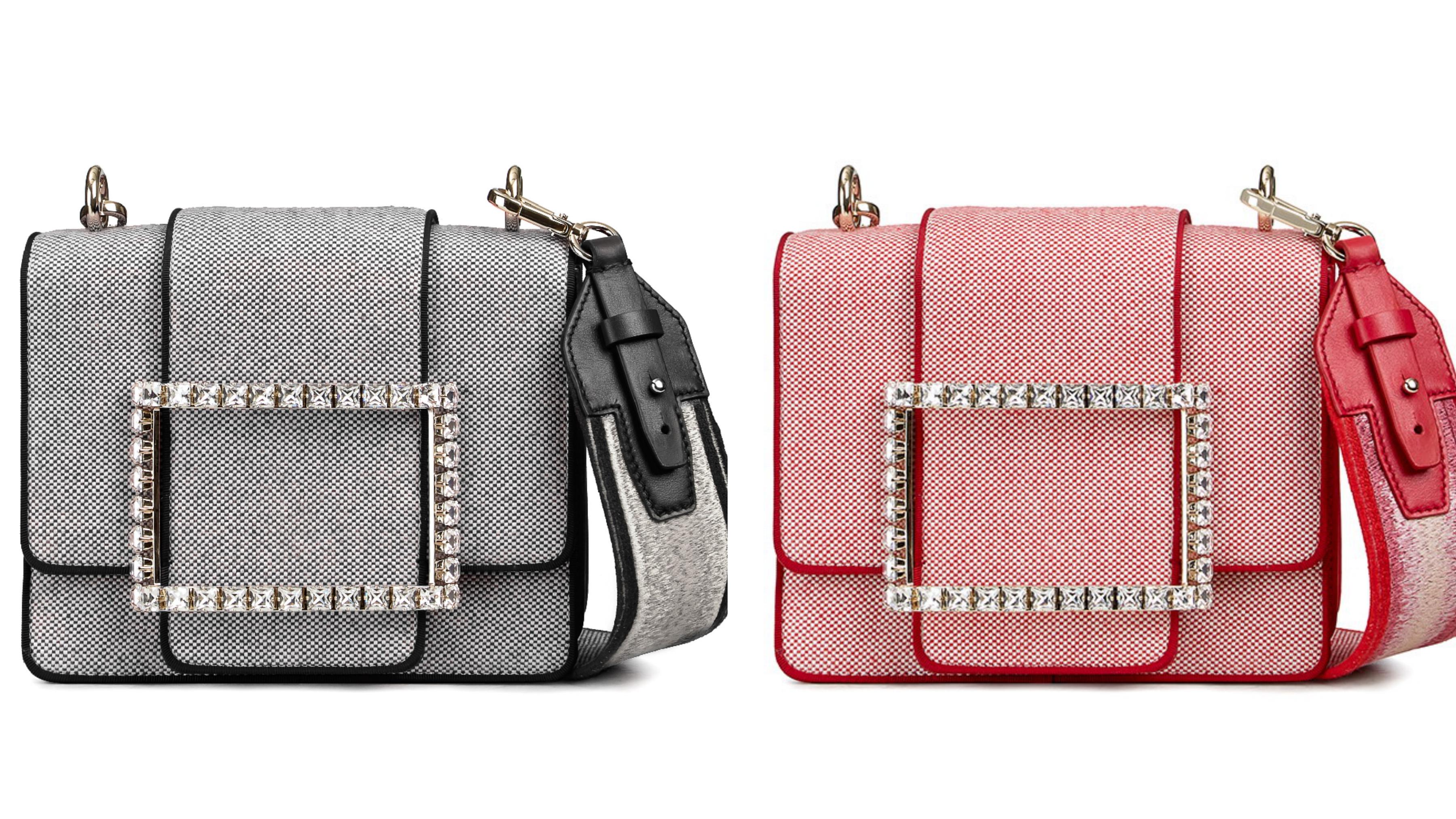包款設計上,細膩綴以閃耀迷人的水鑽方扣,展露簡潔性感的迷人韻致,別具巧思。