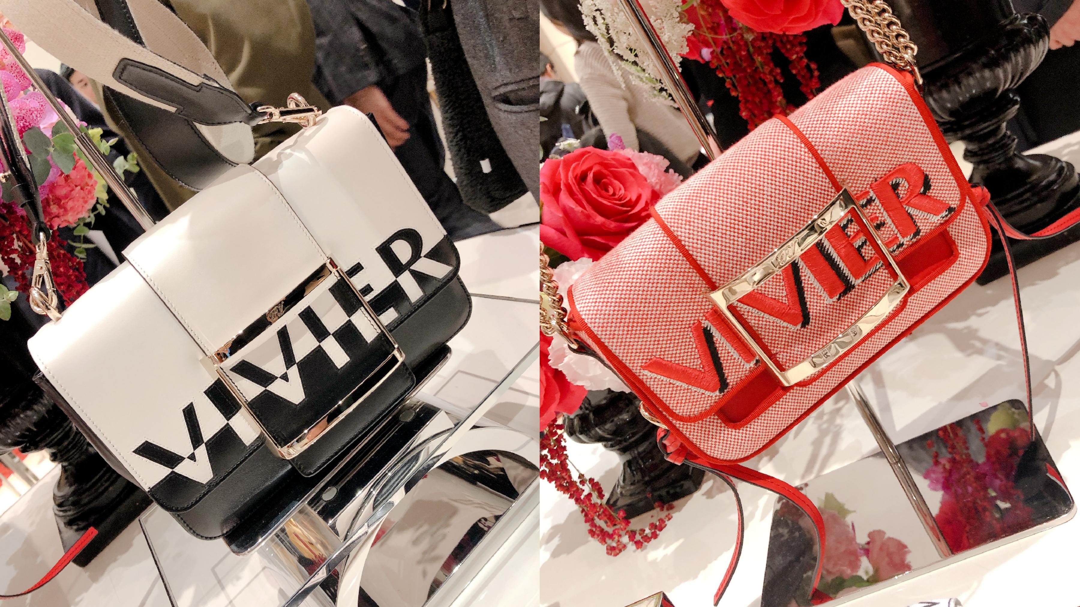 以手工刺繡工藝將品牌字樣大膽呈現於鞋包上