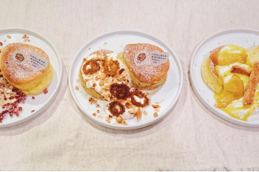 穀咖啡販售日式舒芙蕾鬆餅,濕潤鬆軟的口感,讓人上癮。