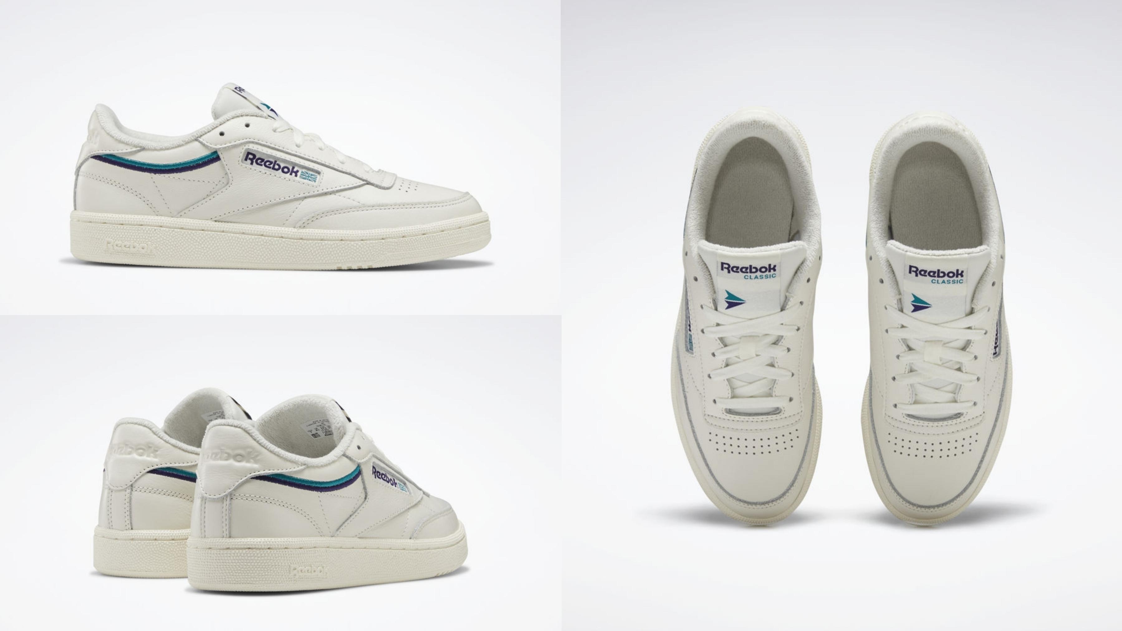 乾脆俐落的網球鞋設計,經典鞋採用塗層皮革鞋面,飾有 Reebok 健身配色刺繡滾邊。