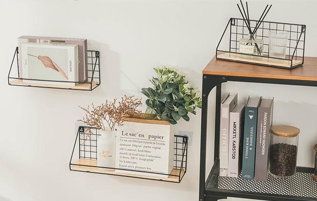 ▲簡單的網格搭配木質,平放或掛牆,立刻勾勒出隨興的文青氣息。(圖片來源:Yahoo購物中心)