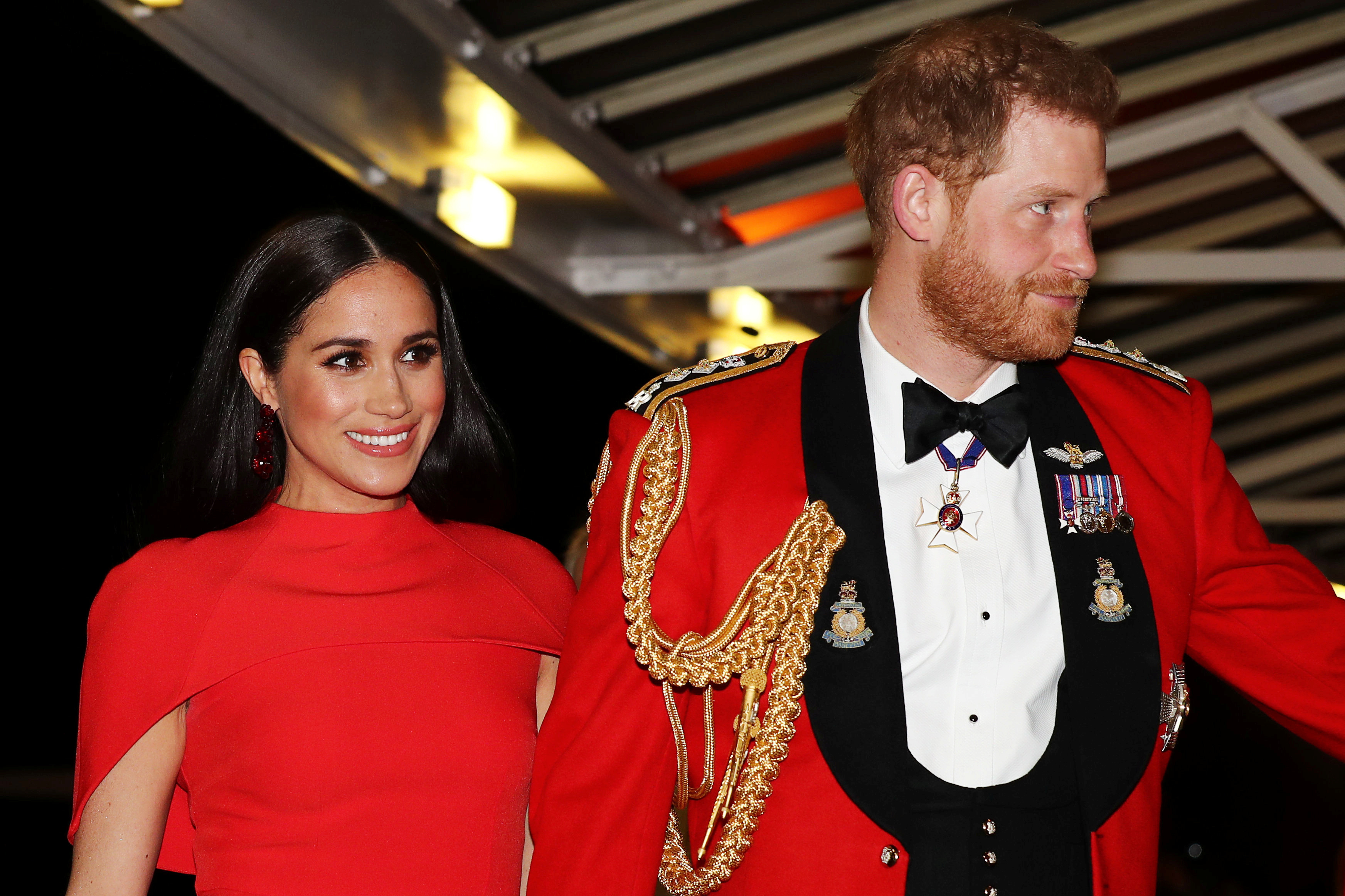 Meghan Markle and Prince Harry made an appearance at The Mountbatten Festival of Music in London on March 7, 2020. (Photo by SIMON DAWSON/POOL/AFP via Getty Images)
