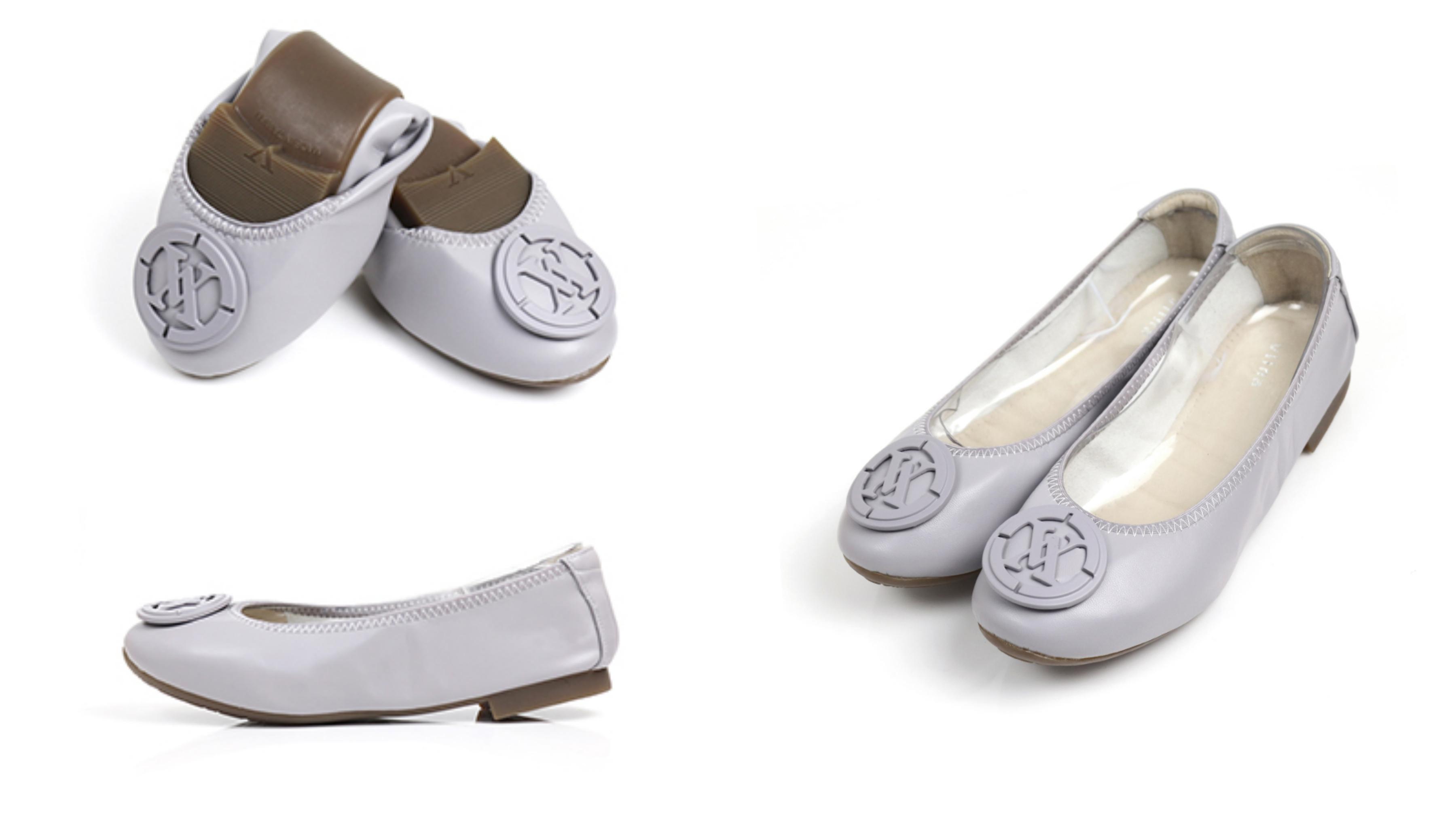 優雅飾釦設計,彈性滾邊完美包覆腳型