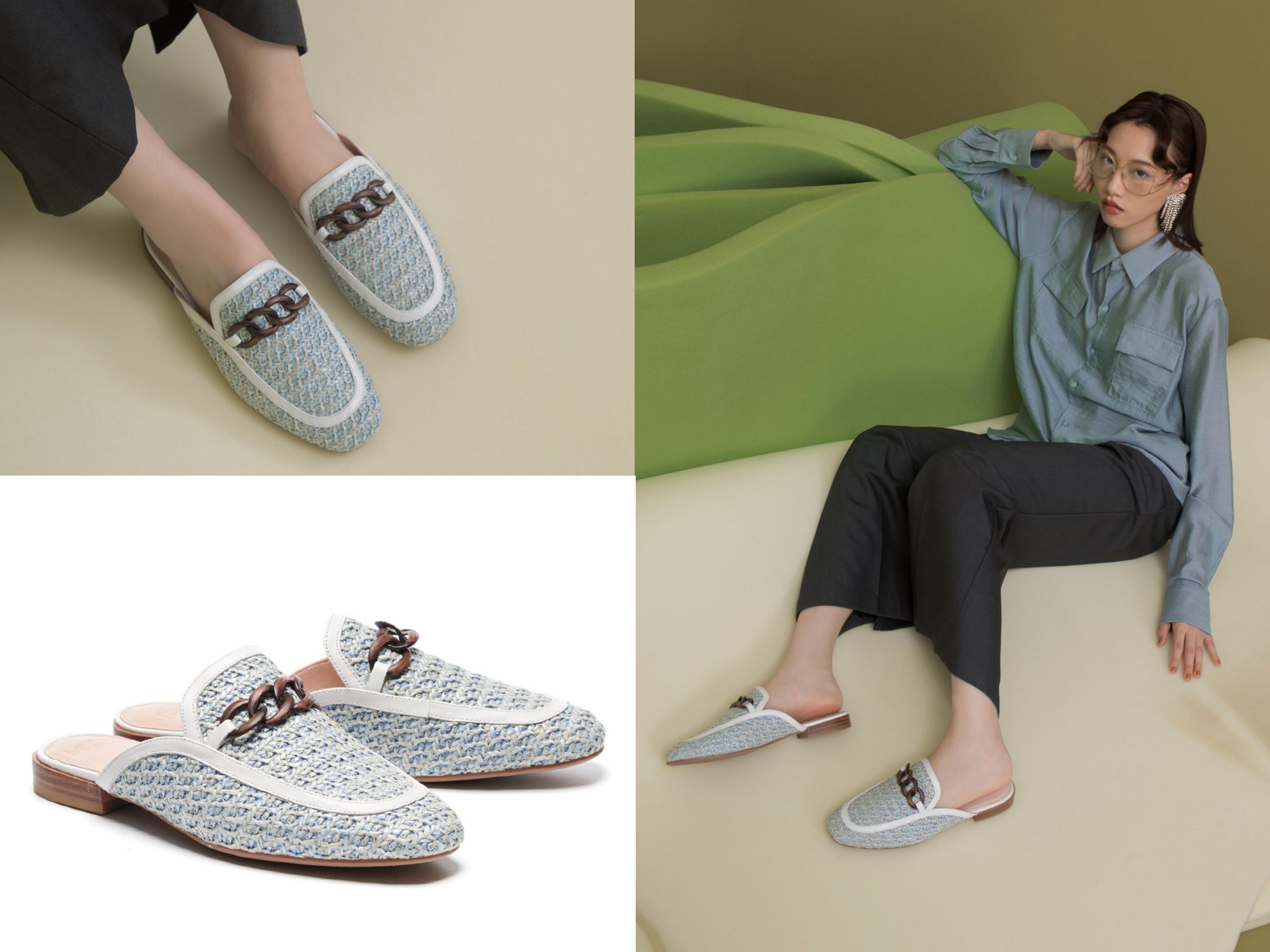 女孩鞋櫃必備的穆勒鞋以草編的注入,無疑將春夏元素與流行單品完美結合