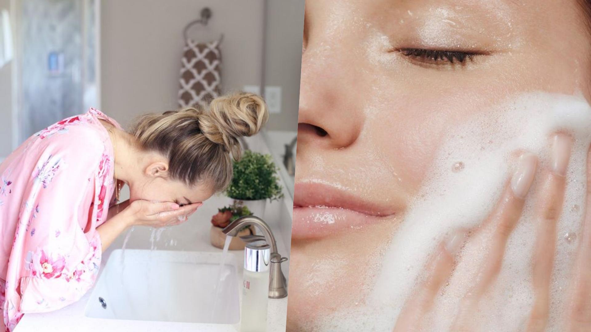 洗臉的水溫和力道都不能太過,不然反而會傷害肌膚。
