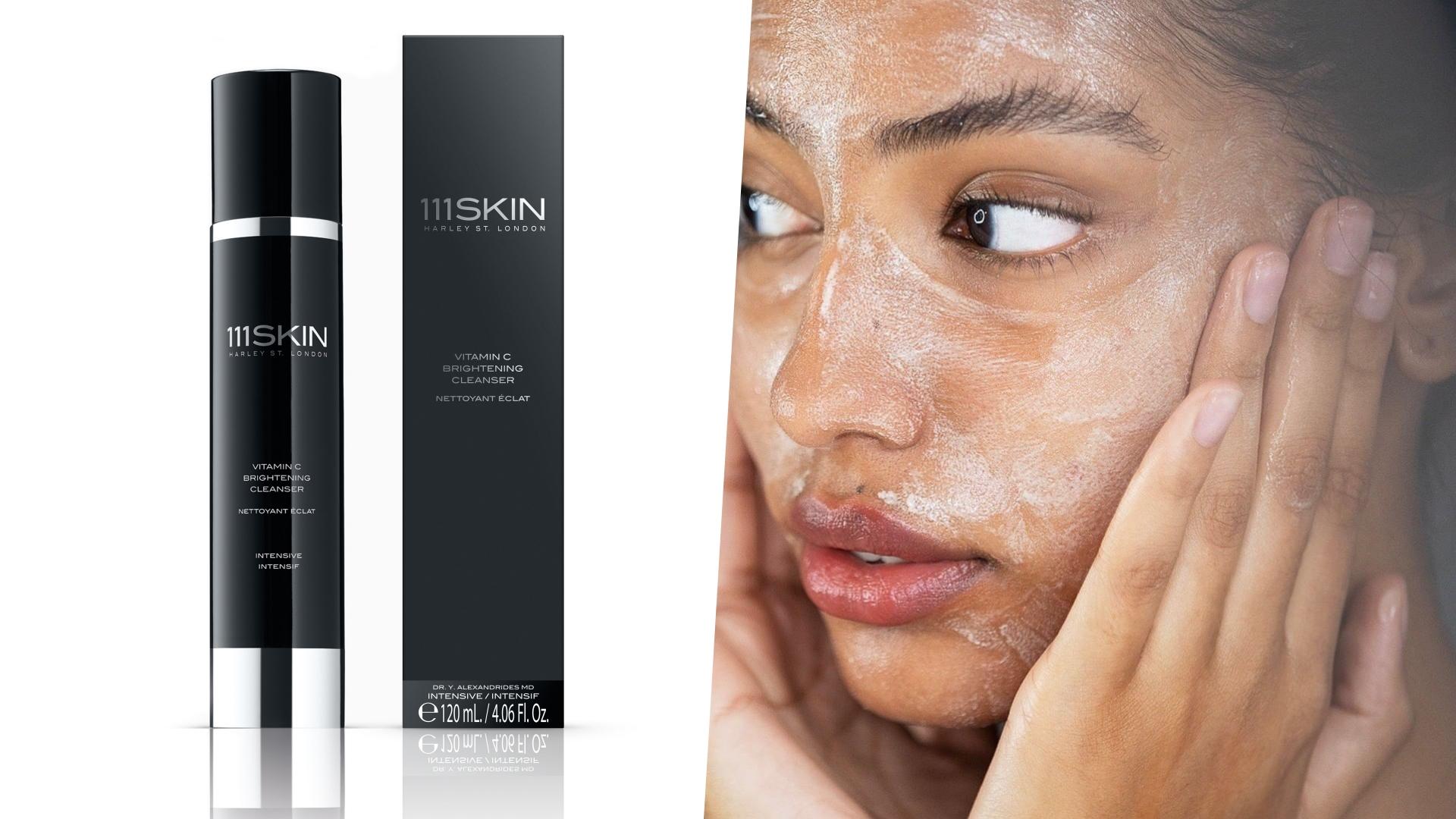 111SKIN黑鑽超光速全能潔顏乳針對暗沉和斑點設計,洗後感覺肌膚超乾淨!