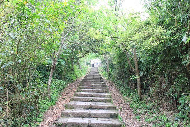 硬漢嶺步道全長約1563公尺,是觀音山境內唯一一處海拔超過600公尺的地方。圖/新北觀光旅遊網