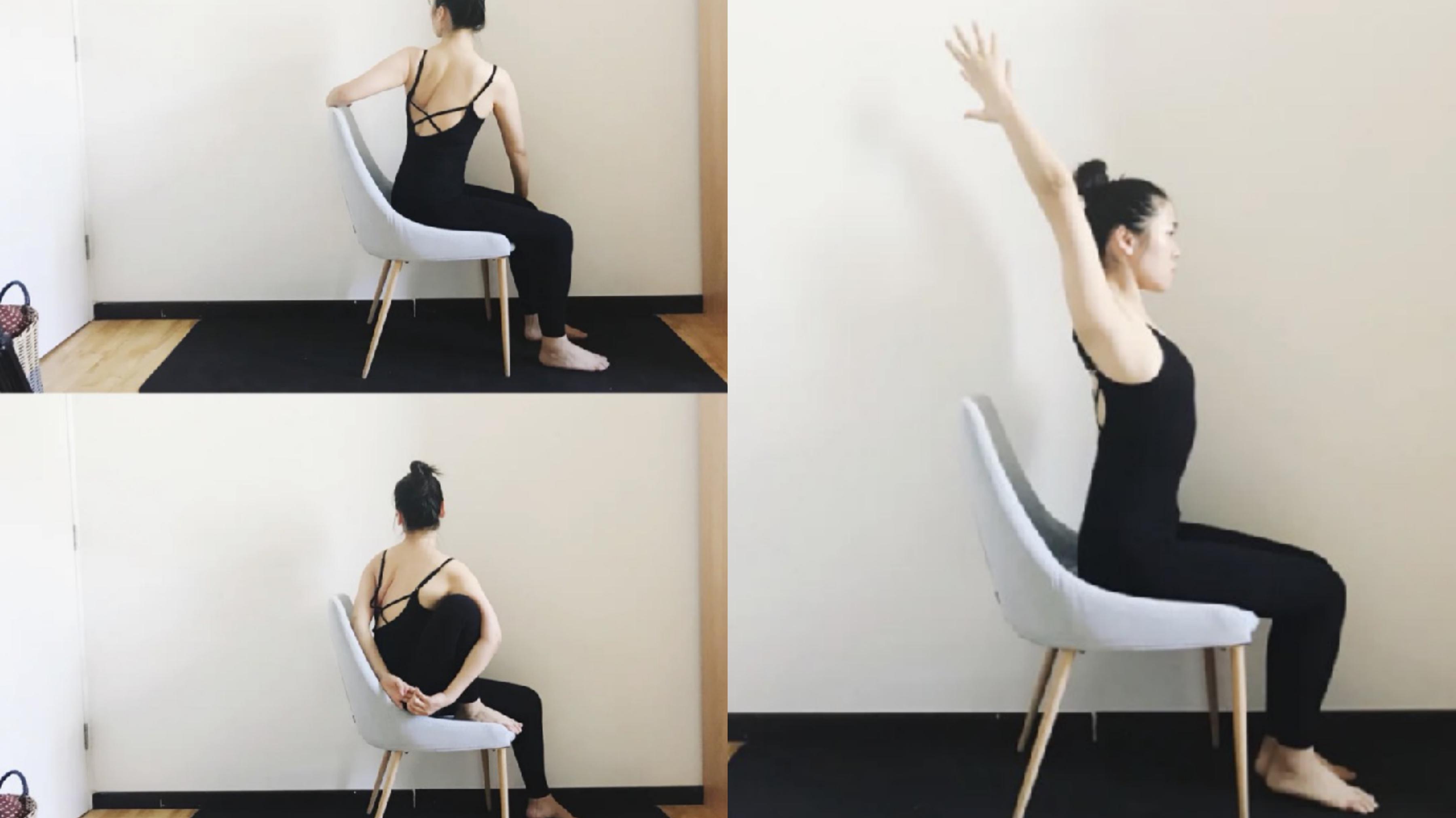 不管是教室、家裡,還是公司,有一把椅子你就可以這樣練習