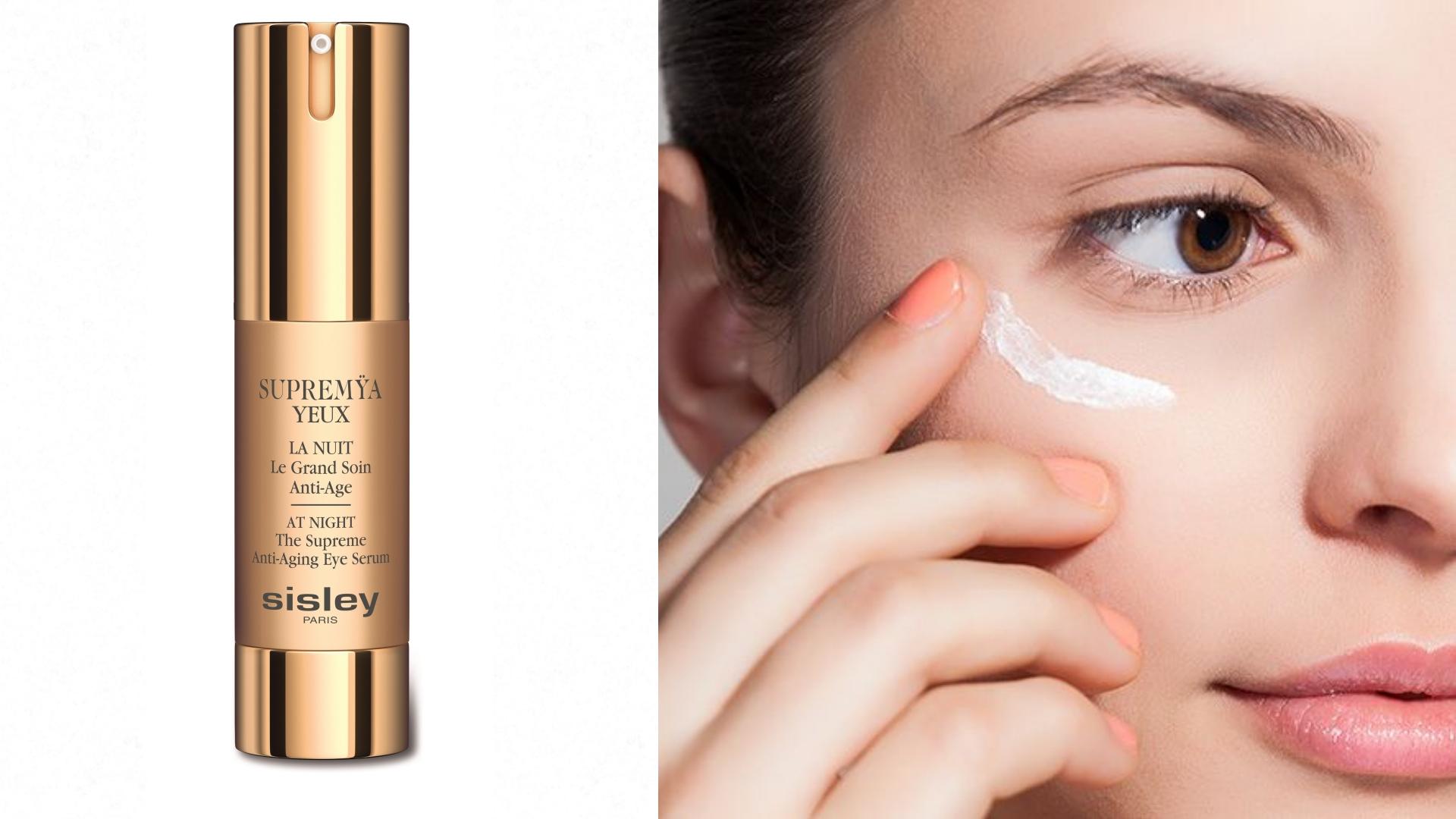 針對夜間的黃金修復期,運用多款頂級抗老技術所推出的眼部精萃,讓老化的眼周肌膚得到修復、緊緻。