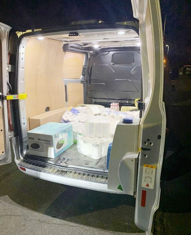 The van was stopped follwoing a tip-off (Picture: Essex Police)