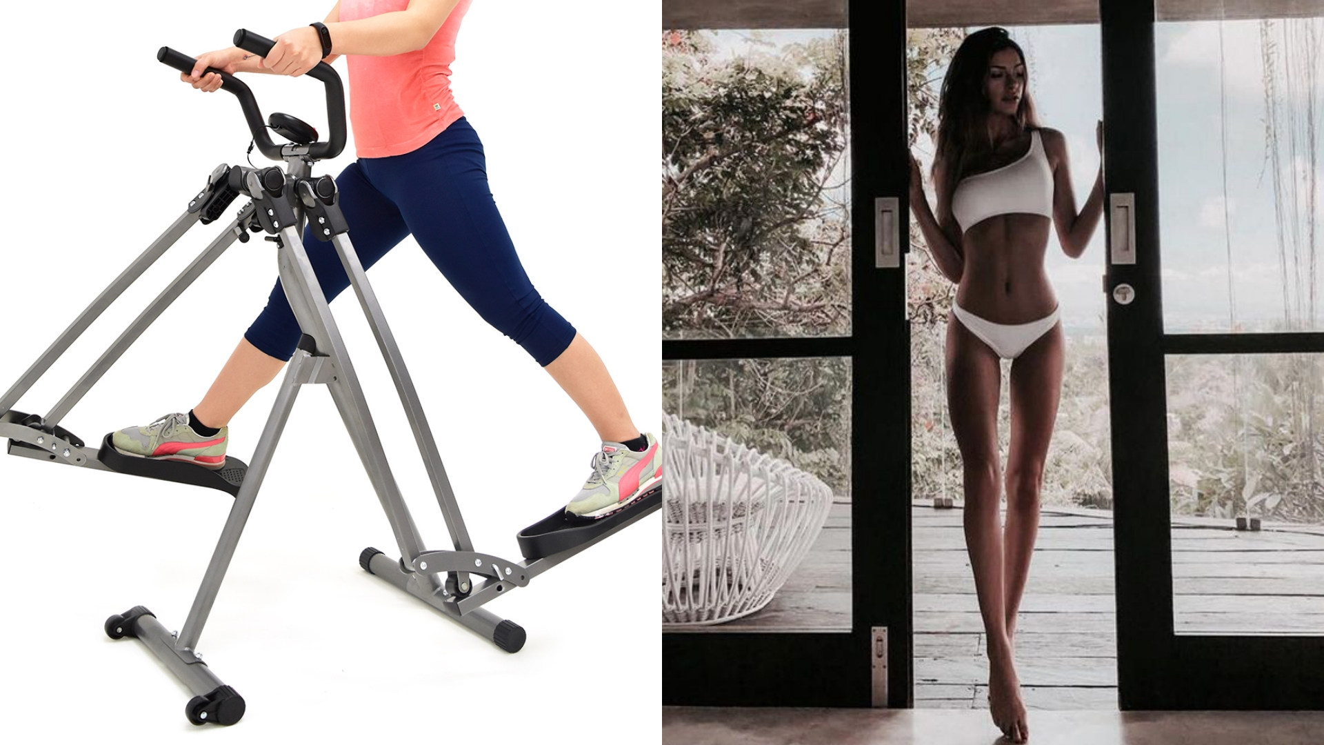 透過手腳的交互弧形擺動,可以降低衝擊、卻能達到和跑步類似的效果,增強心肺功能並且訓練下肢。